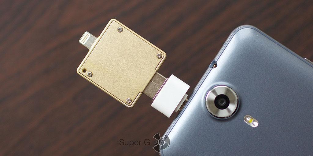 Флешка i-Flash Drive для iPhone подходит и для Android смартфонов