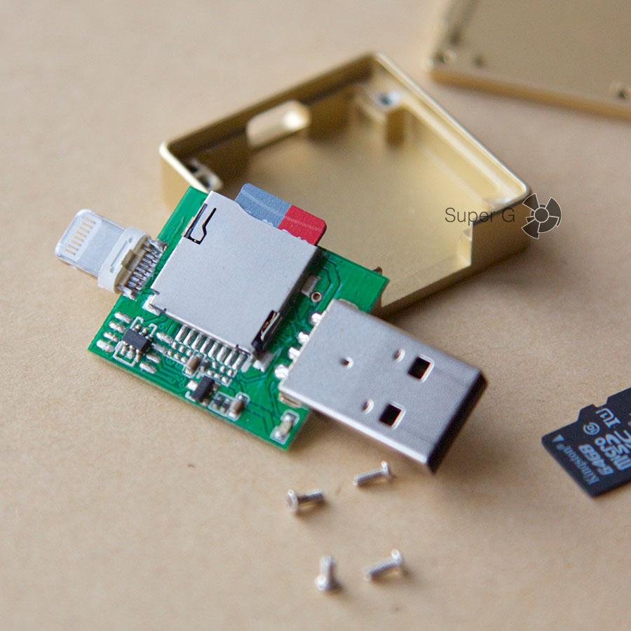Внутреннюю карту памяти в i-Flash Drive можно заменить на любую другую