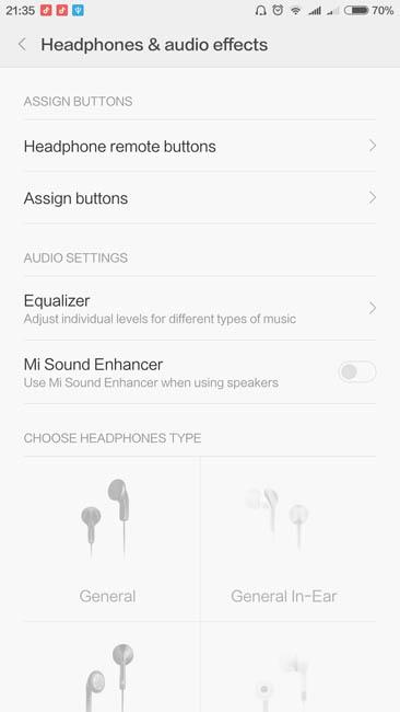 Дополнительные настройки звука в MIUI 7.3
