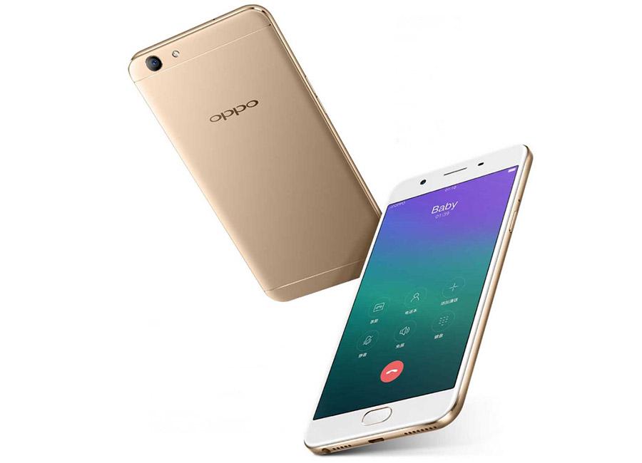 Золотой смартфон Oppo A59