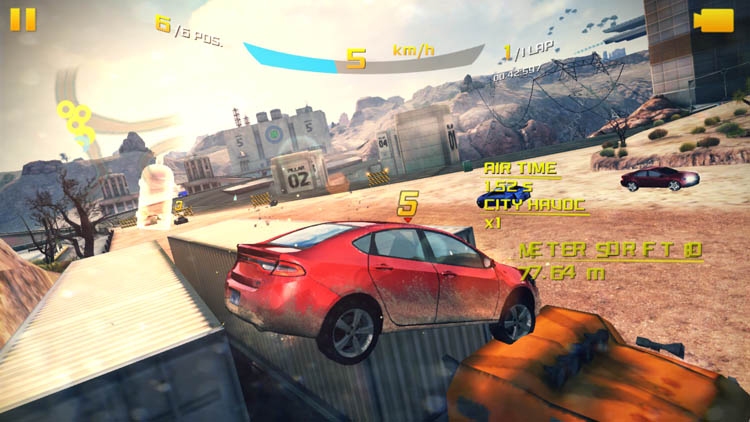 Игра Asphalt 8 на Xiaomi Mi Max