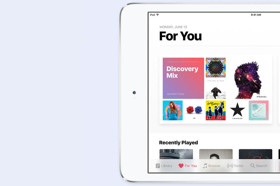 Новый дизайн приложения Apple Music в iOS 10