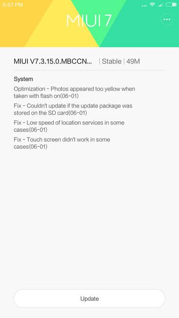 Обновление прошивки Xiaomi Mi Max до 7.3.15.0.MBCCN Stable