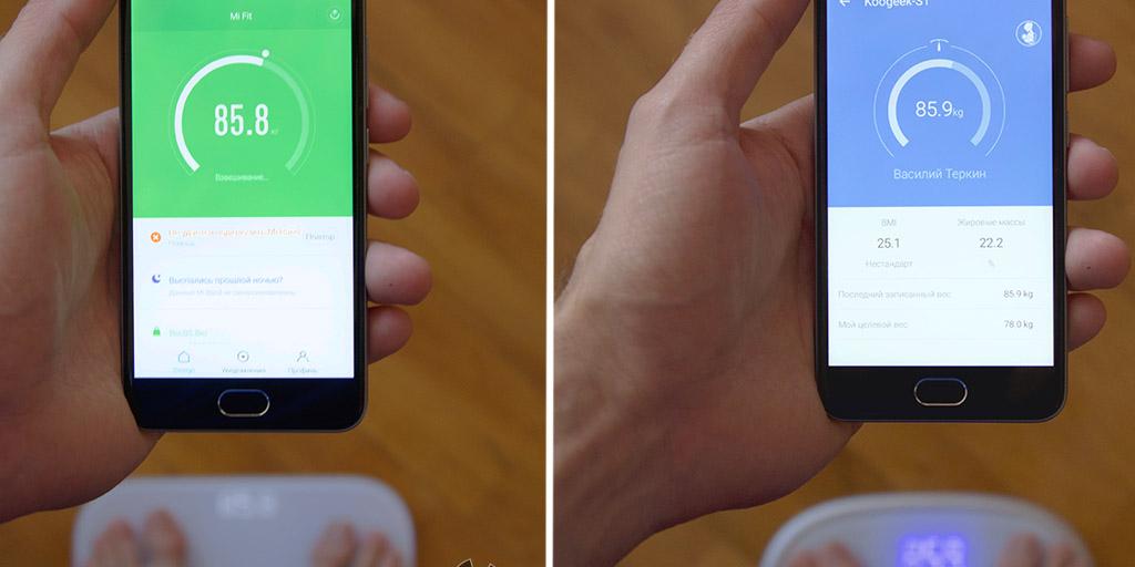 Отзывы Xiaomi Mi Smart Scale и Koogeek S1