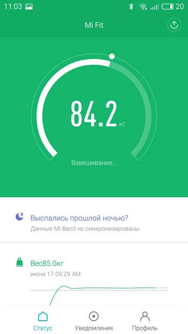 Привественный экран приложения Mi Fit