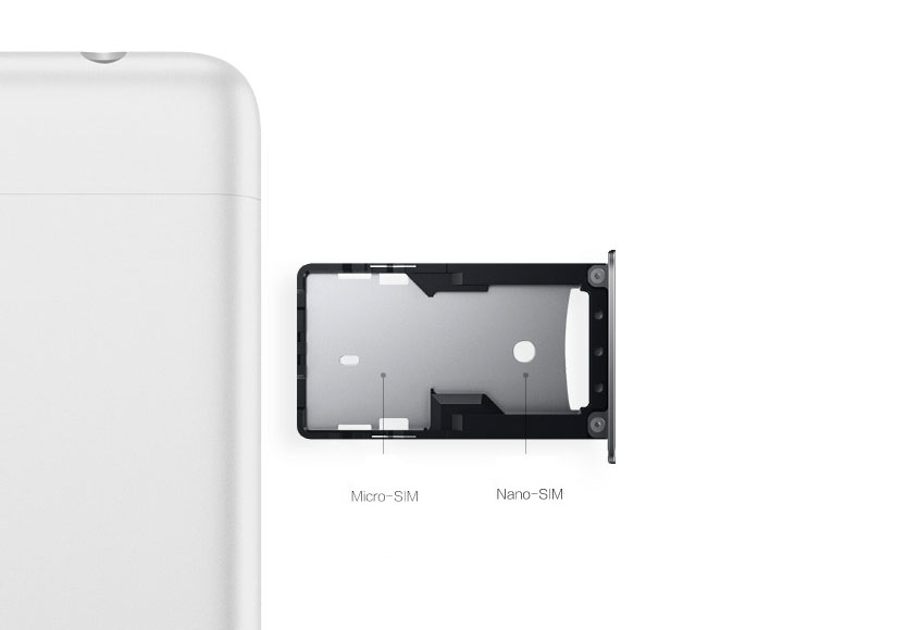 Слот для SIM-карт в Xiaomi Redmi 3S комбинированный