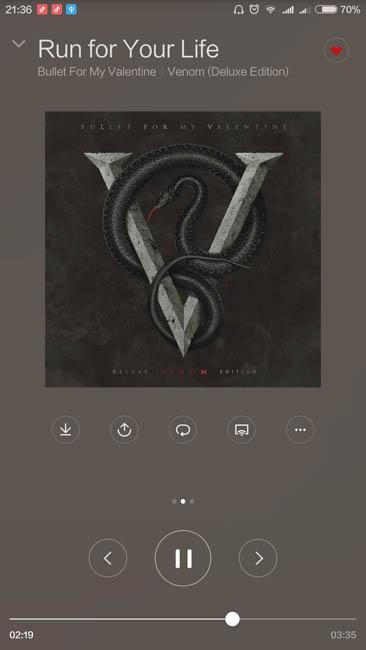 Стандартный аудиоплеер Xiaomi Mi Max