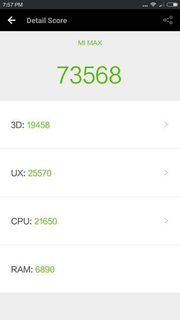 Тестирование Xiaomi Mi Max в AnTuTu 6.1.4