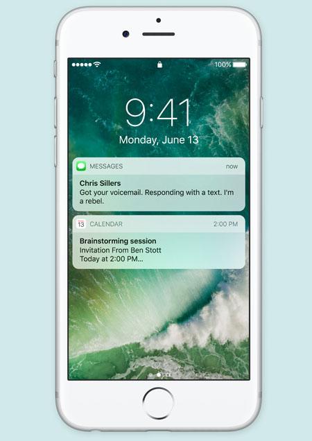 Уведомления на экране блокировки в iOS 10