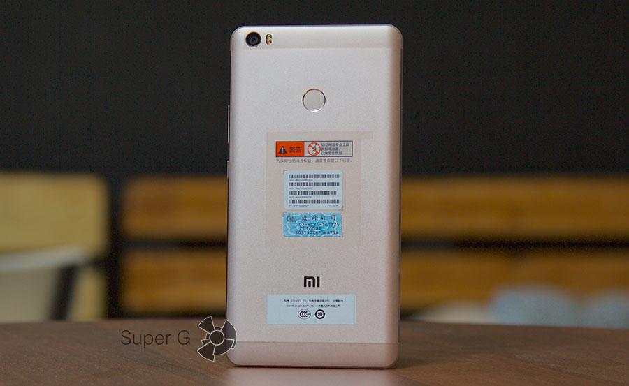 Задняя сторона Xiaomi Mi Max