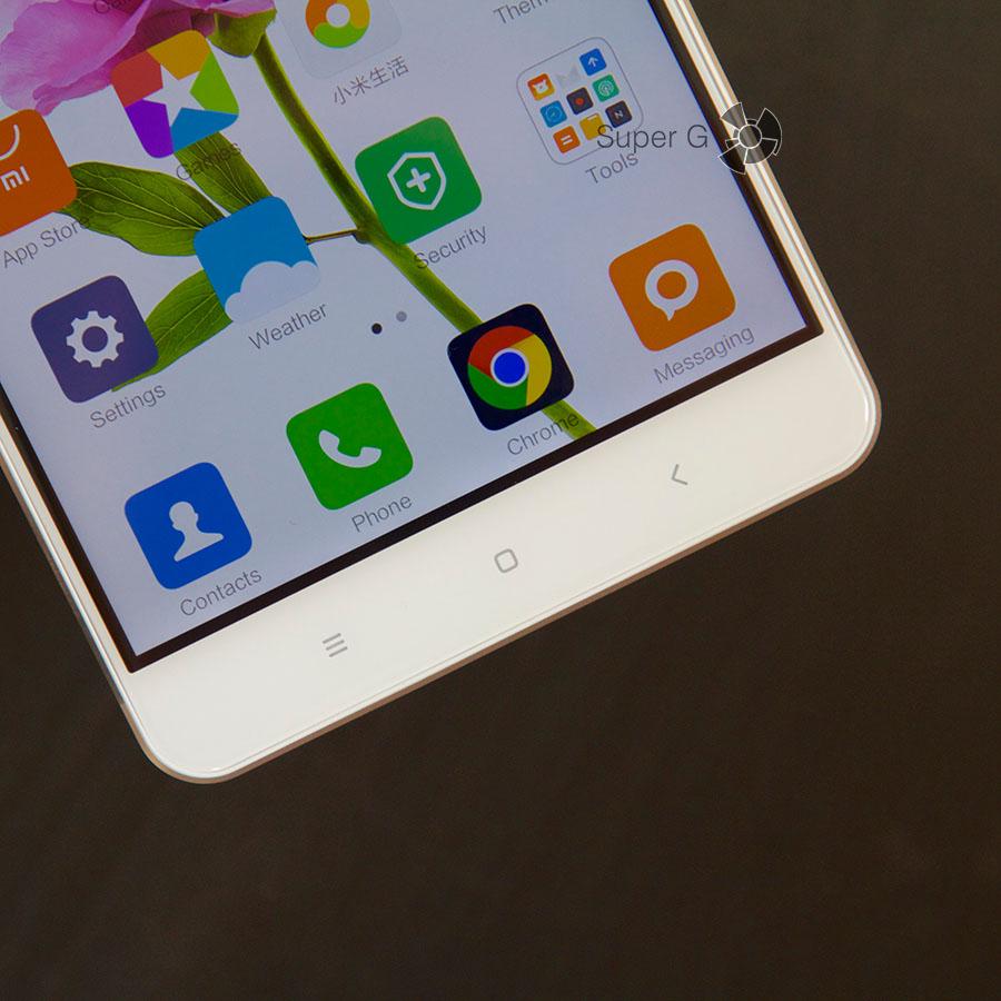 Сенсорные клавиши Xiaomi Mi Max оснащены подсветкой