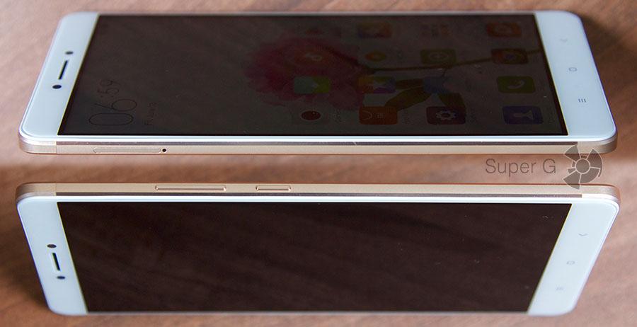 Боковые стороны смартфона Xiaomi Mi Max