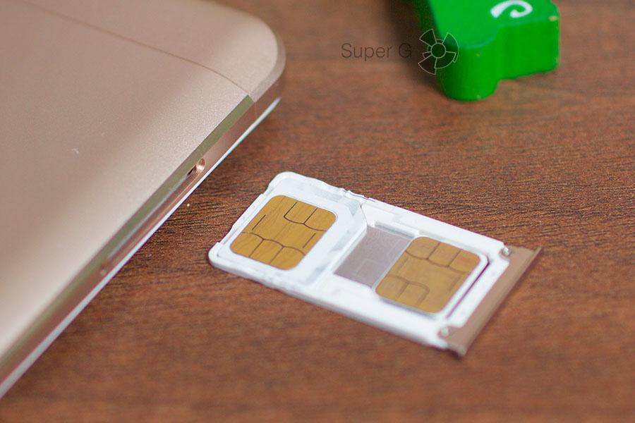 Xiaomi Mi Max поддерживает две SIM-карты - Micro и Nano