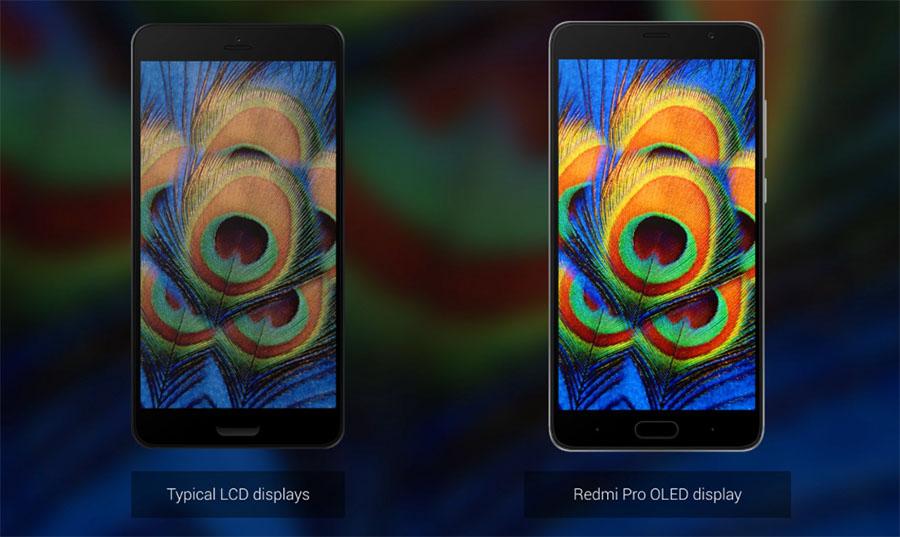 Сравнение качества дисплея Xiaomi Redmi Pro с обычным LCD-экраном