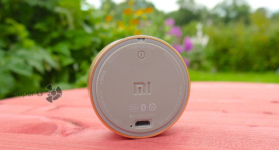 Характеристики акустики Xiaomi Mi Portable Bluetooth Speaker