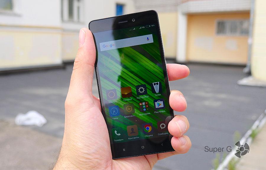 Дисплей Xiaomi Redmi 3S на солнце