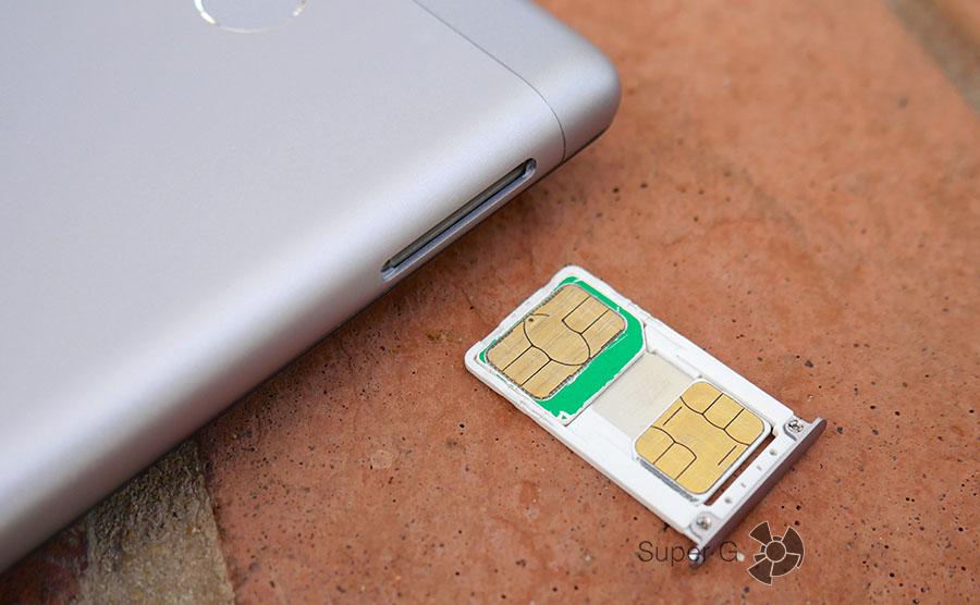 Xiaomi Redmi 3S поддержка двух SIM-карт