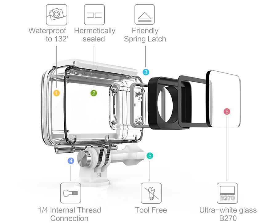 Аквабокс для Yi 4K Action Camera