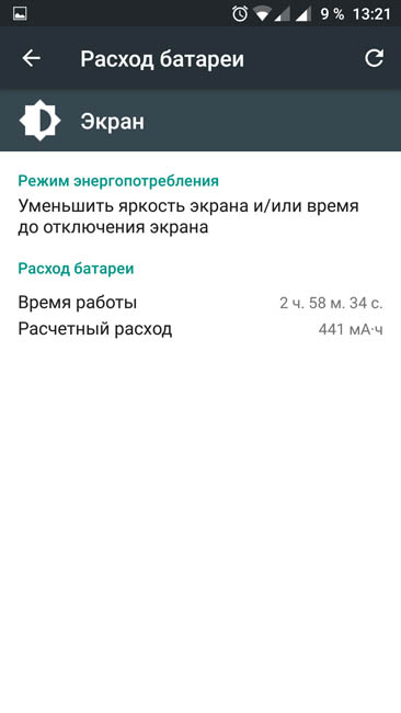 Время работы экрана OnePlus 3