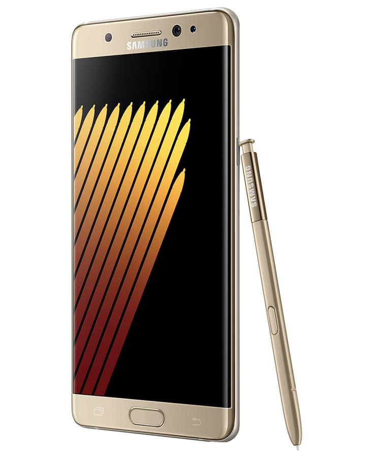 Золотой Samsung Galaxy Note 7 цена