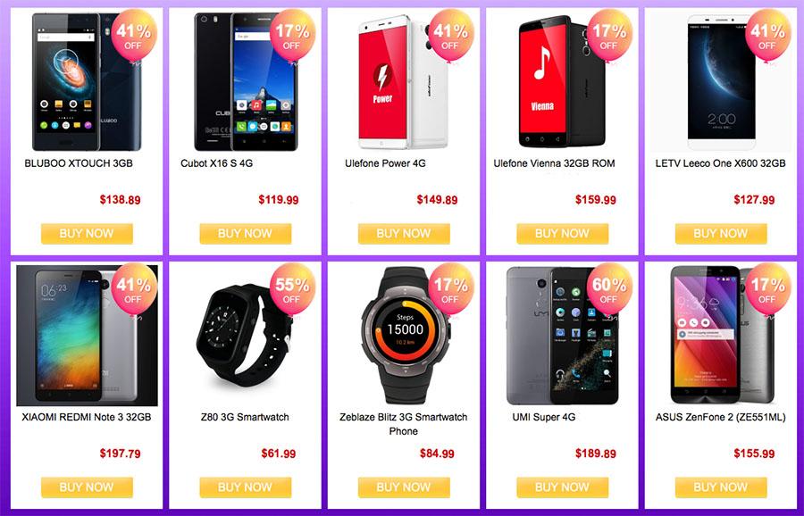 Куча смартфонов и умных часов по скидкам и просто сниженным ценам