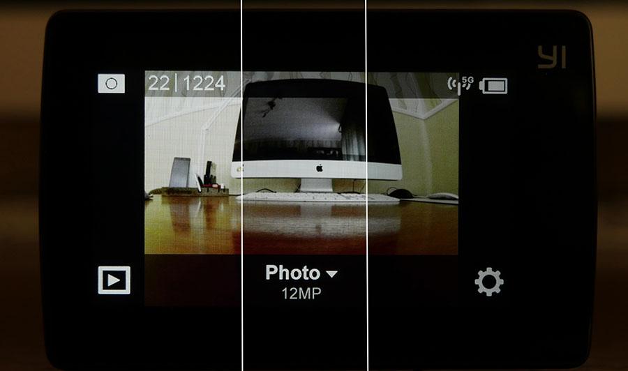 Настройка яркости дисплея экшн-камеры Xiaomi Yi 4K Action Camera