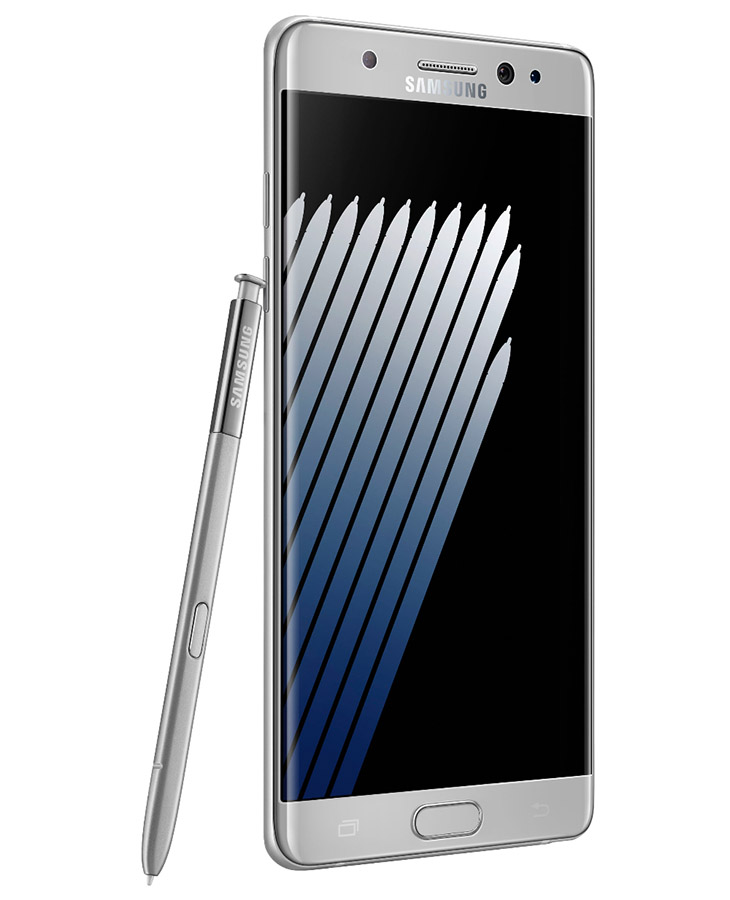 Серебристый Samsung Galaxy Note 7
