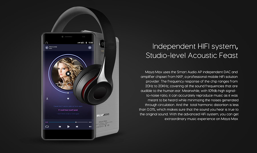 Bluboo Maya Max качество звука