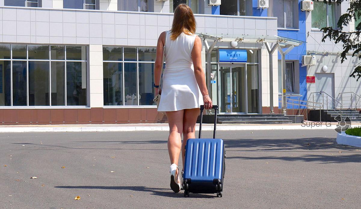 Перевозка чемодана Xiaomi 90 Minutes Suitcase для ручной клади