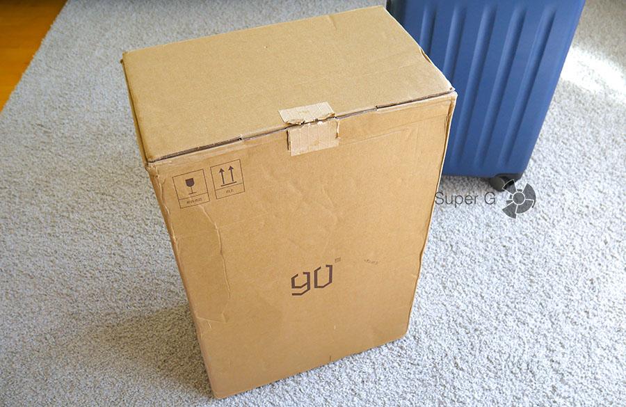 Упаковка чемодана Xiaomi 90 Minutes Suitcase