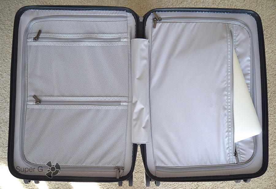 В Xiaomi 90 Minutes Suitcase можно положить и ноутбук