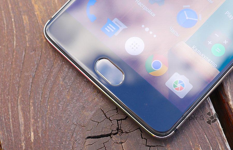 Работа сканера отпечатков пальцев в OnePlus 3