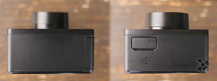 Боковые стороны экшн-камеры Yi 4K