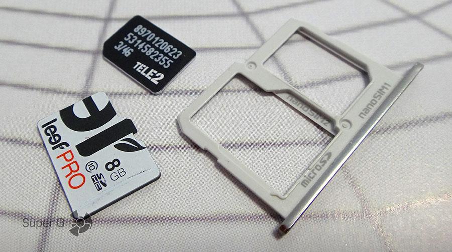 SIM-карты в LG X Cam