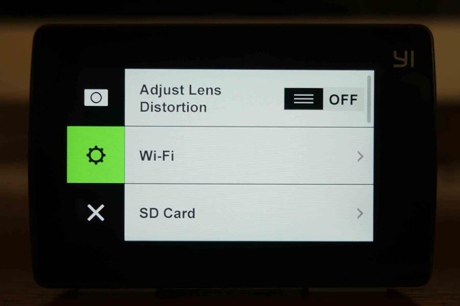 Yi 4K Action Camera поддерживает подключение по Wi-Fi