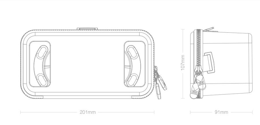 Размеры Xiaomi Mi VR