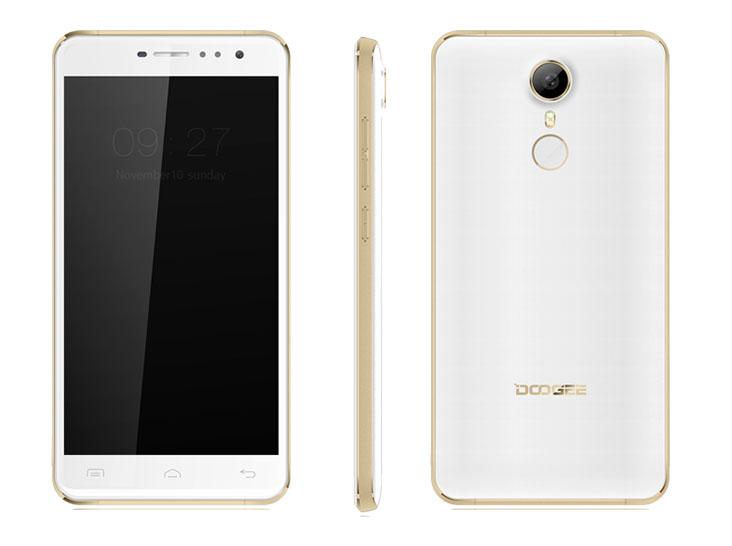 Бело-золотой Doogee F7 Pro