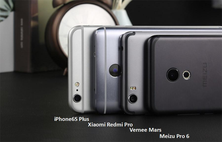 Габариты смартфона Vernee Mars