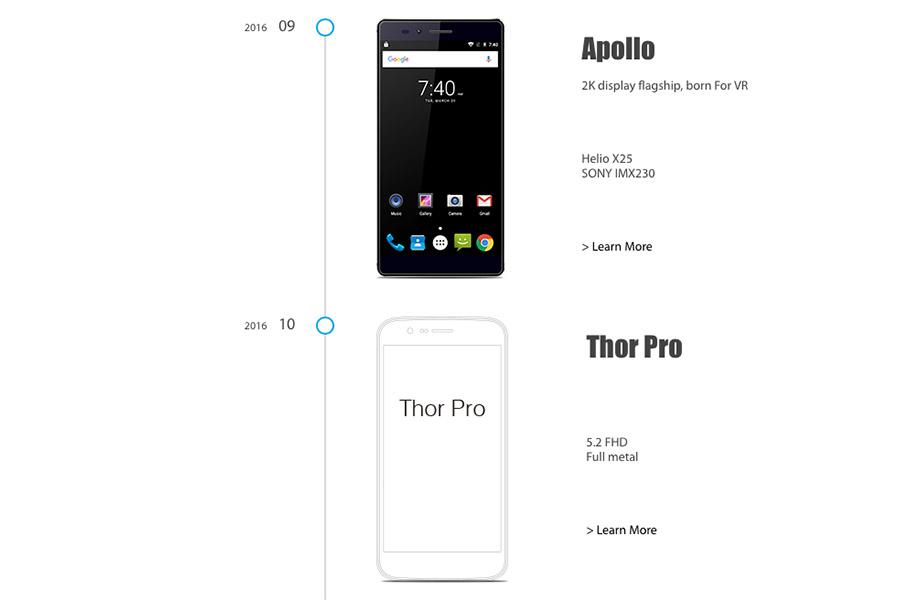 Дата выхода смартфонов Vernee Apollo и Thor Pro