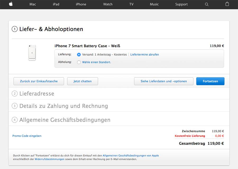 Оформление покупки iPhone 7 на примере чехла для смартфона