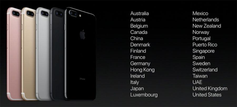 Старт продаж iPhone 7 - страны первой волны