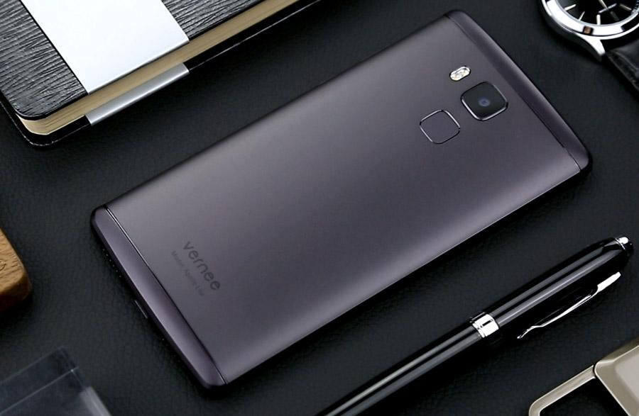 Темно-серый смартфон Vernee Apollo Lite