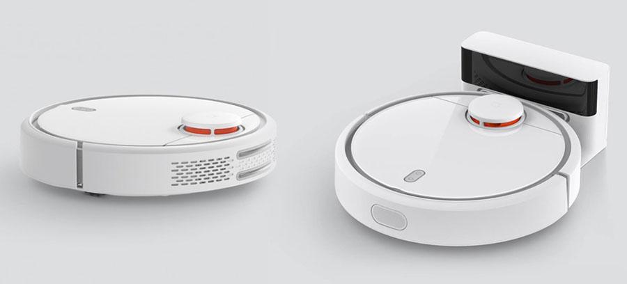 Умный пылесос Xiaomi Mi Robot Vacuum и док-станция для подзарядки