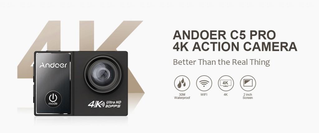 Andoer C5 Pro – интересная новинка в сегмента экшн камер