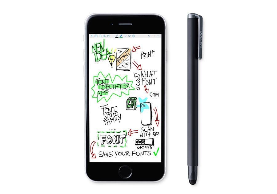 Bamboo Solo со смартфоном