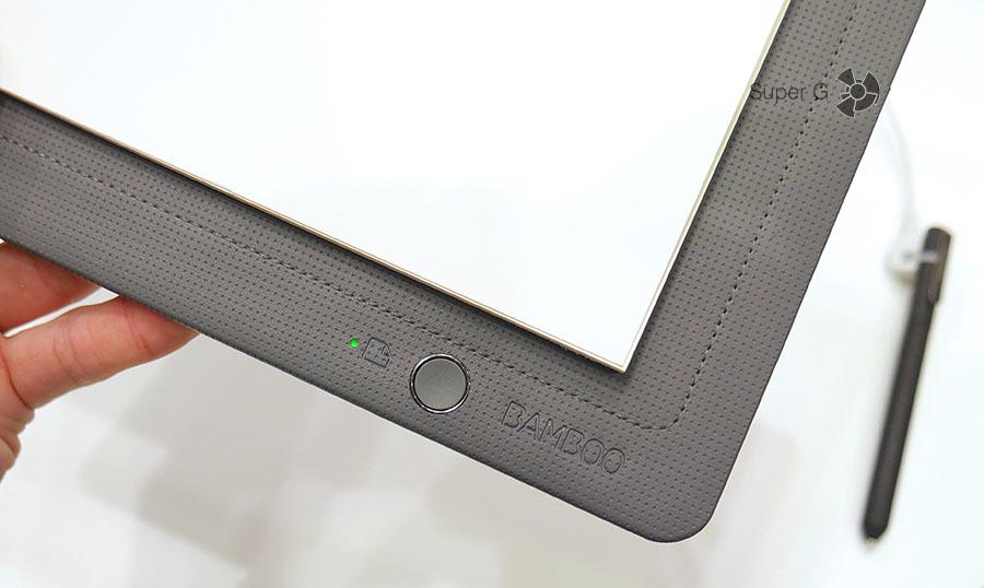 Bamboo Slate c кнопкой для синхронизации данных