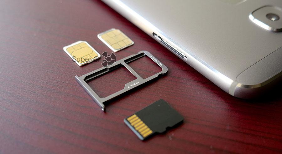 Конструкция слота под SIM-карты комбинированная