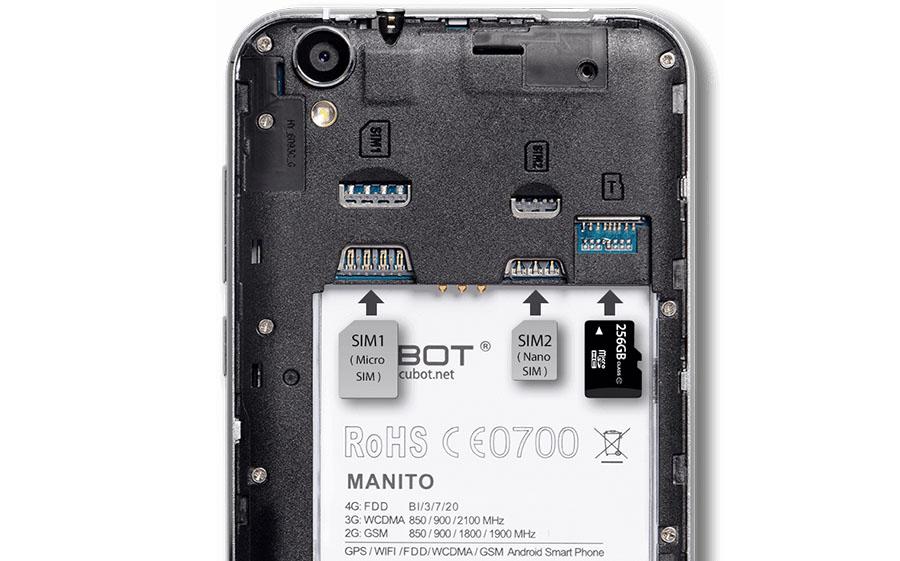 В Cubot Manito удачная компановка SIM-карт