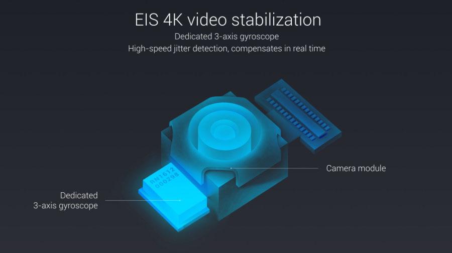 Основная камера Xiaomi Mi Note 2 имеет EIS (стабилизацию изображения)