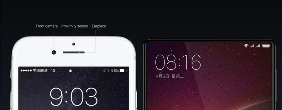 Xiaomi MIX лишен привычных фронтальных элементов
